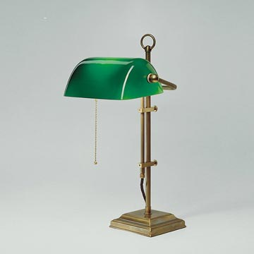 Original Berliner Messing Bankers Lamp